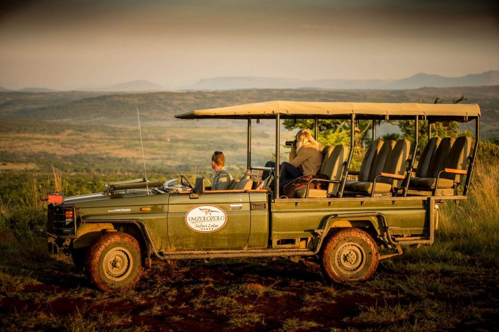 Big Cat Safaris - Umzolozolo game viewing vehicle Big Cat Safari Specials