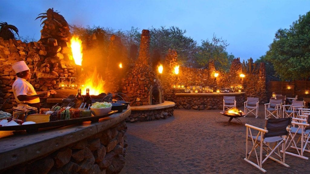 Big Cat Safaris - Phinda Mountain Lodge - boma-dinner-at-andbeyond-phinda-mountain-lodge-on-a-luxury-safari-in-south-africa